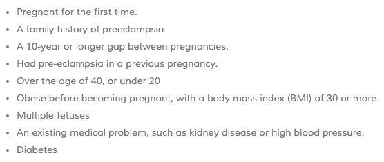 risk of preeclampsia