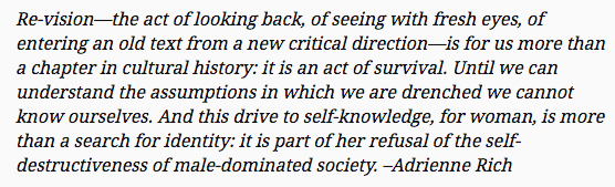 Adrienne Rich - When We Dead Awaken: Writing as Re-Vision